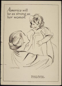 Department of Labor poster: America will be as strong as her women