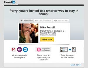 LinkedIn email offer