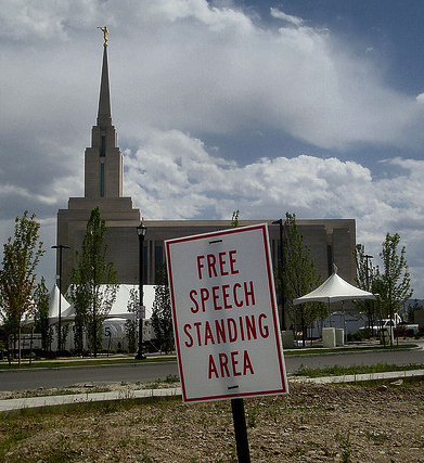 free speech area