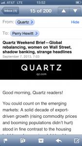 mobile quartz email
