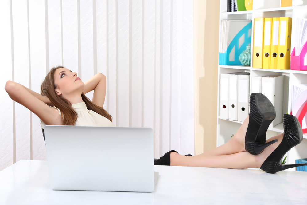 Leaning too far back: Women in stock photography