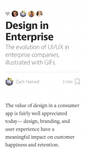 design enterprise on medium