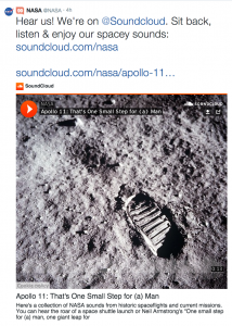 NASA audio tweet