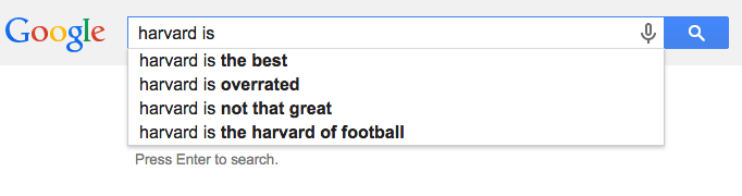 Harvard is search results