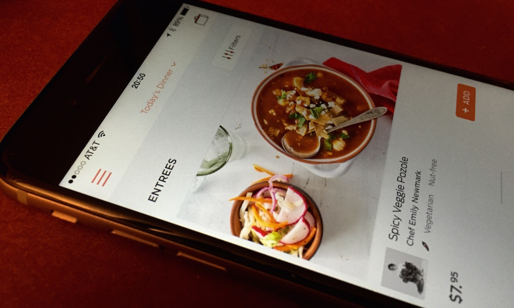 munchery app interface