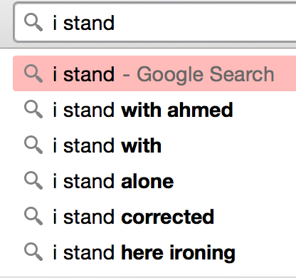 I stand with ahmed search