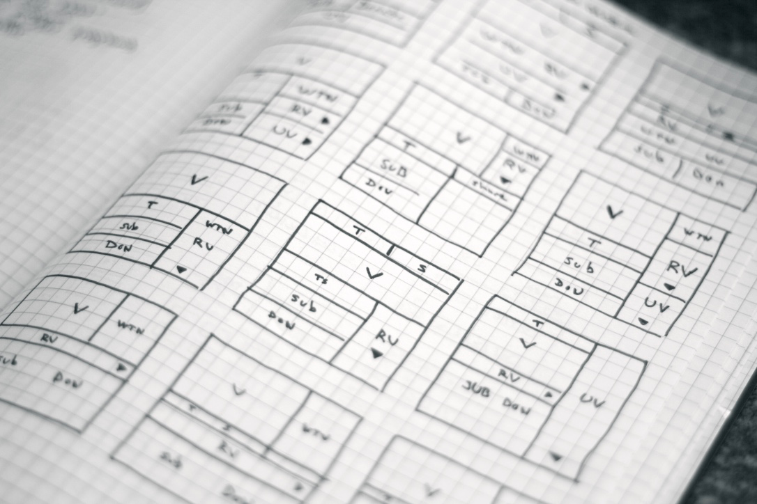 Paper wireframes by Dustin Senos
