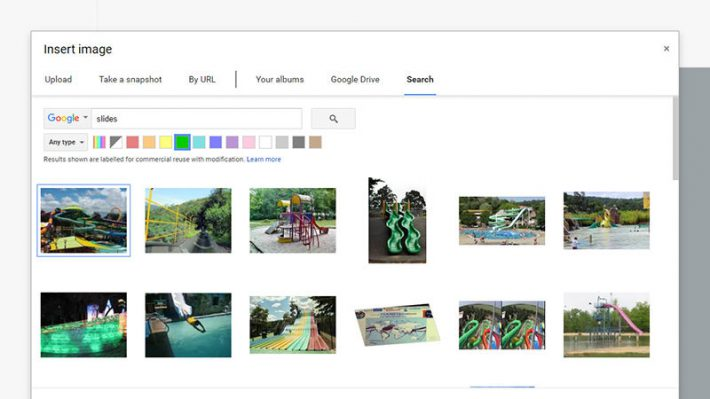 google docs image search by color