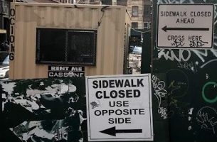 sidewalk closed dead end